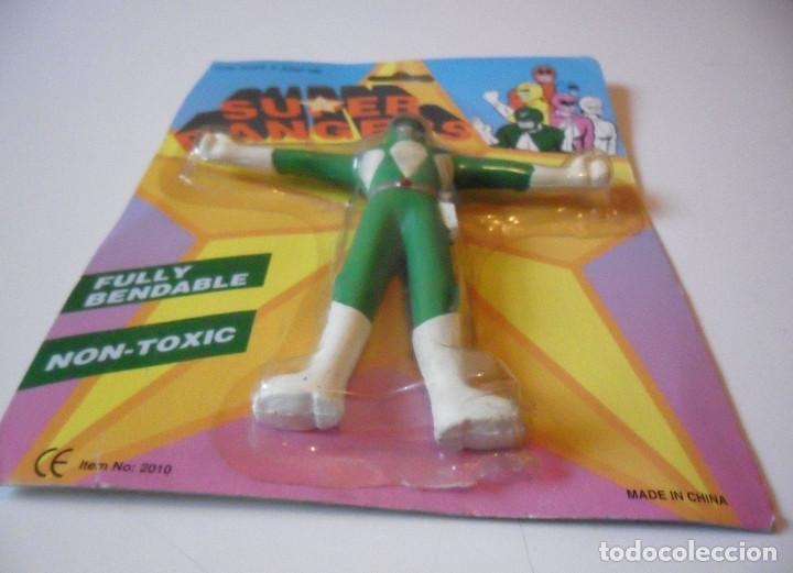 Figuras y Muñecos Power Rangers: SUPER RANGERS POWER RANGERS FIGURA BOOTLEG FLEXIBLE NUEVA EN BLISTER - Foto 2 - 147064610