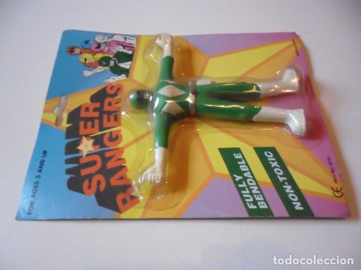 Figuras y Muñecos Power Rangers: SUPER RANGERS POWER RANGERS FIGURA BOOTLEG FLEXIBLE NUEVA EN BLISTER - Foto 3 - 147064610