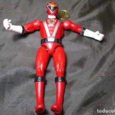 Figuras y Muñecos Power Rangers: FIGURA POWER RANGERS ROJO ARTICULACIONES PIERNAS FLOJAS 14 CM MARCADO TM BVS. Lote 148155970