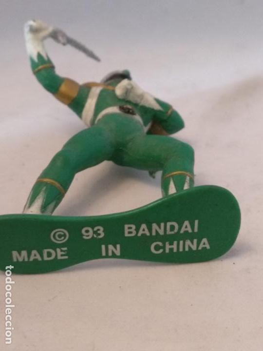 Figuras y Muñecos Power Rangers: Figura power Rangers verde bandai 93 - Foto 2 - 150661042