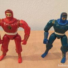 Figuras y Muñecos Power Rangers: PAREJA POWER RANGERS NINJA BANDA 1994. Lote 151297172