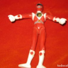 Figuras y Muñecos Power Rangers: FIGURA MUÑECO POWER RANGERS ROJO TODO DE GOMA FLEXIBLE SABAN MIDE 13 CMS APROX. Lote 151484002