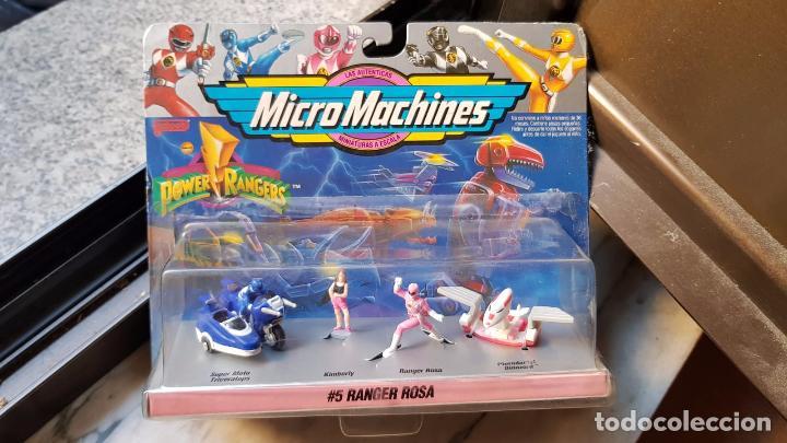 MICRO MACHINES RANGER ROSA DE POWER RANGER DE FAMOSA (Juguetes - Figuras de Acción - Power Rangers)