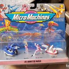 Figuras y Muñecos Power Rangers: MICRO MACHINES RANGER ROSA DE POWER RANGER DE FAMOSA. Lote 158011386