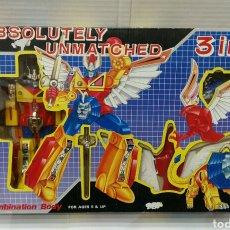 Figuras y Muñecos Power Rangers: POWER RANGERS. IMITACIÓN. ABSOLUTELY UNMATCHED. 3 EN 1. NUEVO EN CAJA. RARO. MADE IN TAIWAN.. Lote 160749202