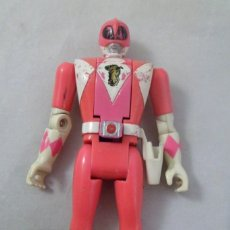 Figuras y Muñecos Power Rangers: MUÑECO POWER RANGER ROSA ARTICULADO. CABEZA MOVIBLE. BANDAI. 1993. Lote 161778314
