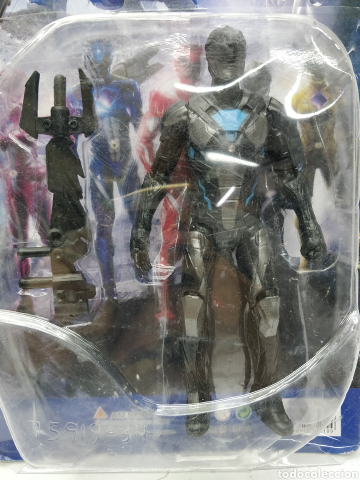 Figuras y Muñecos Power Rangers: Sabans Power Rangers - Ref: 75919-34 - negro y Azul con armamento - Foto 2 - 165452609