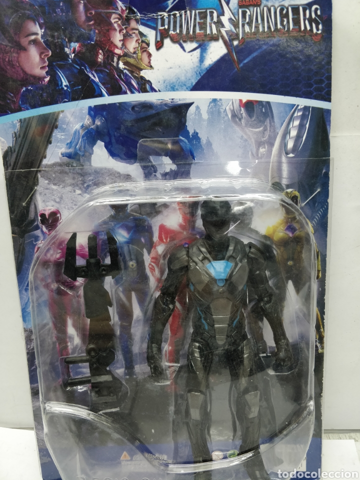 Figuras y Muñecos Power Rangers: Sabans Power Rangers - Ref: 75919-34 - negro y Azul con armamento - Foto 4 - 165452609