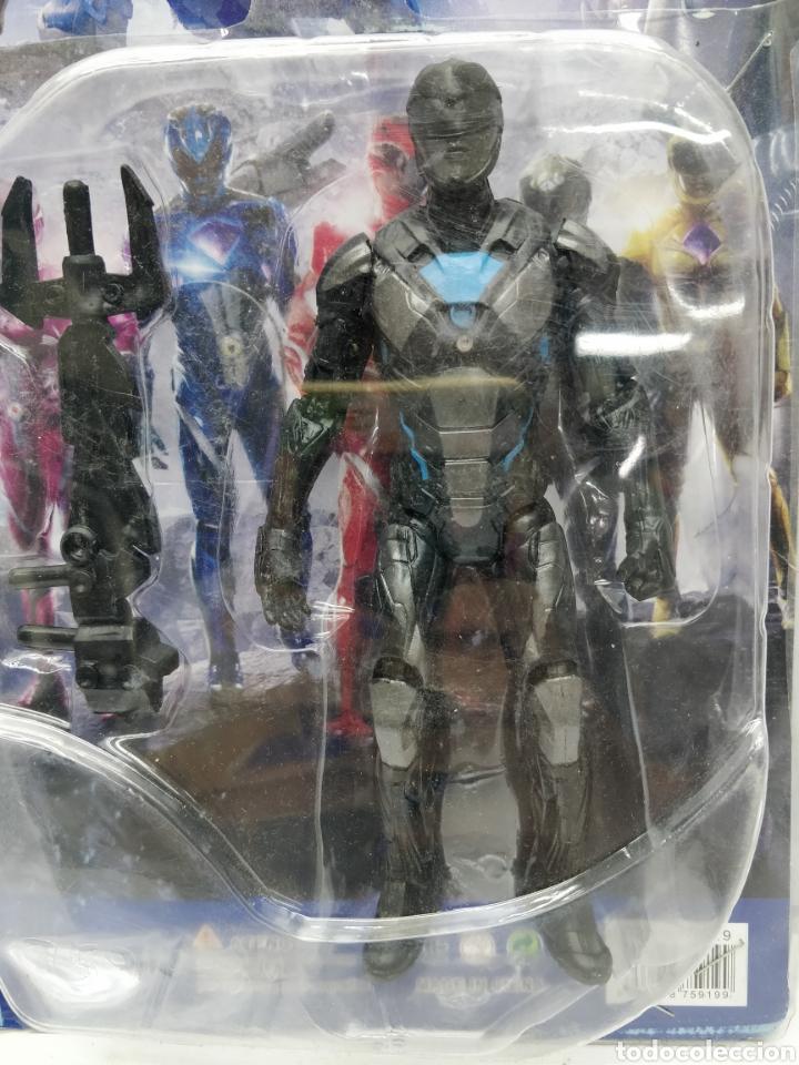 Figuras y Muñecos Power Rangers: Sabans Power Rangers - Ref: 75919-34 - Muñeco de acción negro y azul con armamento - Foto 2 - 165453184