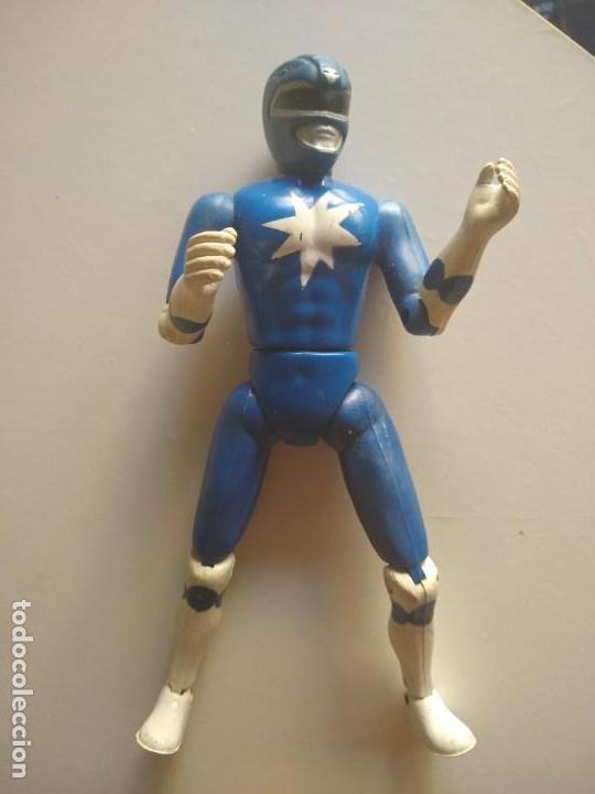 POWER RANGER AZUL AÑOS 90 (Juguetes - Figuras de Acción - Power Rangers)