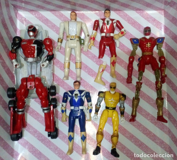 LOTE DE 6 FIGURAS POWER RANGERS CON DEFECTOS, PARA PIEZAS O REPARAR (Juguetes - Figuras de Acción - Power Rangers)