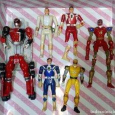 Figuras y Muñecos Power Rangers: LOTE DE 6 FIGURAS POWER RANGERS CON DEFECTOS, PARA PIEZAS O REPARAR. Lote 172723592