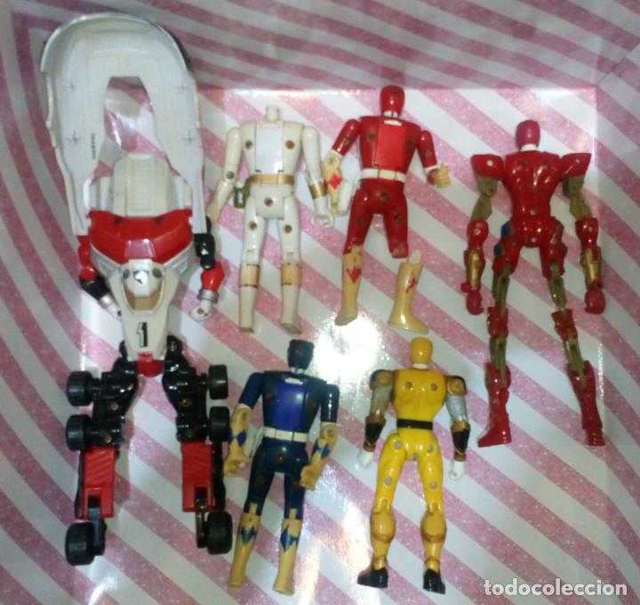 Figuras y Muñecos Power Rangers: LOTE DE 6 FIGURAS POWER RANGERS CON DEFECTOS, PARA PIEZAS O REPARAR - Foto 2 - 172723592