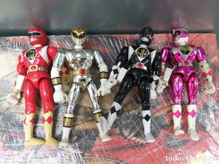 LOTE 4 FIGURAS DE ACCION POWER RANGERS BANDAI VINTAGE AÑOS 90 (Juguetes - Figuras de Acción - Power Rangers)