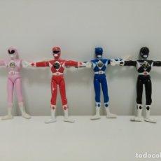 Figuras y Muñecos Power Rangers: LOTE DE 4 POWER RANGERS DE PVC DE LA SERIE MIGHTY MORPHIN POWER RANGERS 1993. Lote 174281148