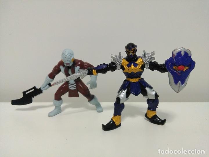 LOTE DE 2 FIGURAS DE POWER RANGERS MYSTIC FORCE KORAGG E HIDIAC BANDAI 2005 (Juguetes - Figuras de Acción - Power Rangers)