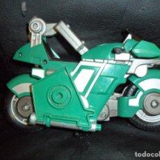 Figuras y Muñecos Power Rangers: NINJA GLIDER CYCLE GREEN SAMURAI - MOTO TRANSFORMABLE- POWER RANGERS NINJA STORM 2002 BANDAI - . Lote 174401885