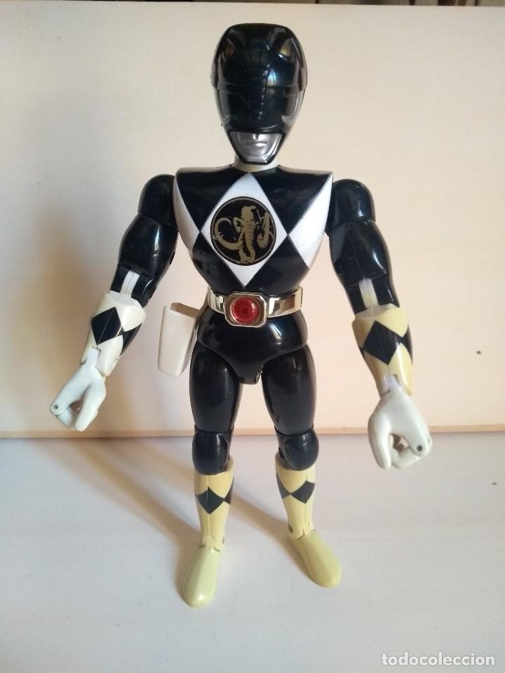 POWER RANGERS NEGRO - ZACK - MAMUT - BANDAI 1994 - KARATE ACTION (Juguetes - Figuras de Acción - Power Rangers)