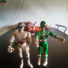 Figuras y Muñecos Power Rangers: FIGURAS POWER RANGERS,VERDE Y BLANCO DE 21CM BANDAI 1993. Lote 175337579