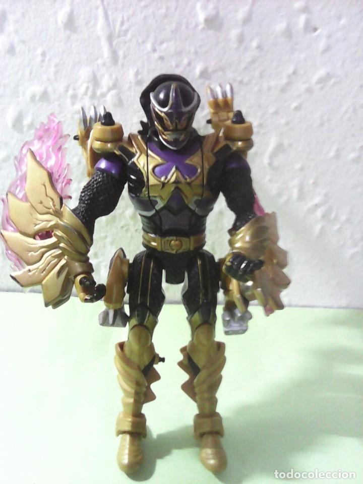 Figuras y Muñecos Power Rangers: Power Rangers Mystic Force Black Ranger dragon 2005 bandai - Foto 2 - 175392415