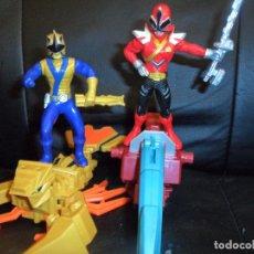 Figuras y Muñecos Power Rangers: SHARKZORD & CLAWZORD + FIGURAS RANGERS - VEHICULOS POWER RANGERS SUPER SAMURAI 2011 BANDAI, VER FOTO. Lote 176840587