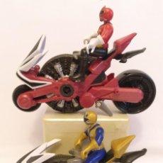 Figuras y Muñecos Power Rangers: POWER RANGERS SAMURAI CON MOTO RANGER,(DOS MUÑECOS Y DOS MOTOS) DE SCG. Lote 184904735