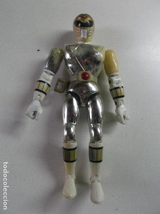 POWER RANGERS, PLATEADO BANDAI 1993 ARTICULADO, 21 CNT ALTO, (Juguetes - Figuras de Acción - Power Rangers)