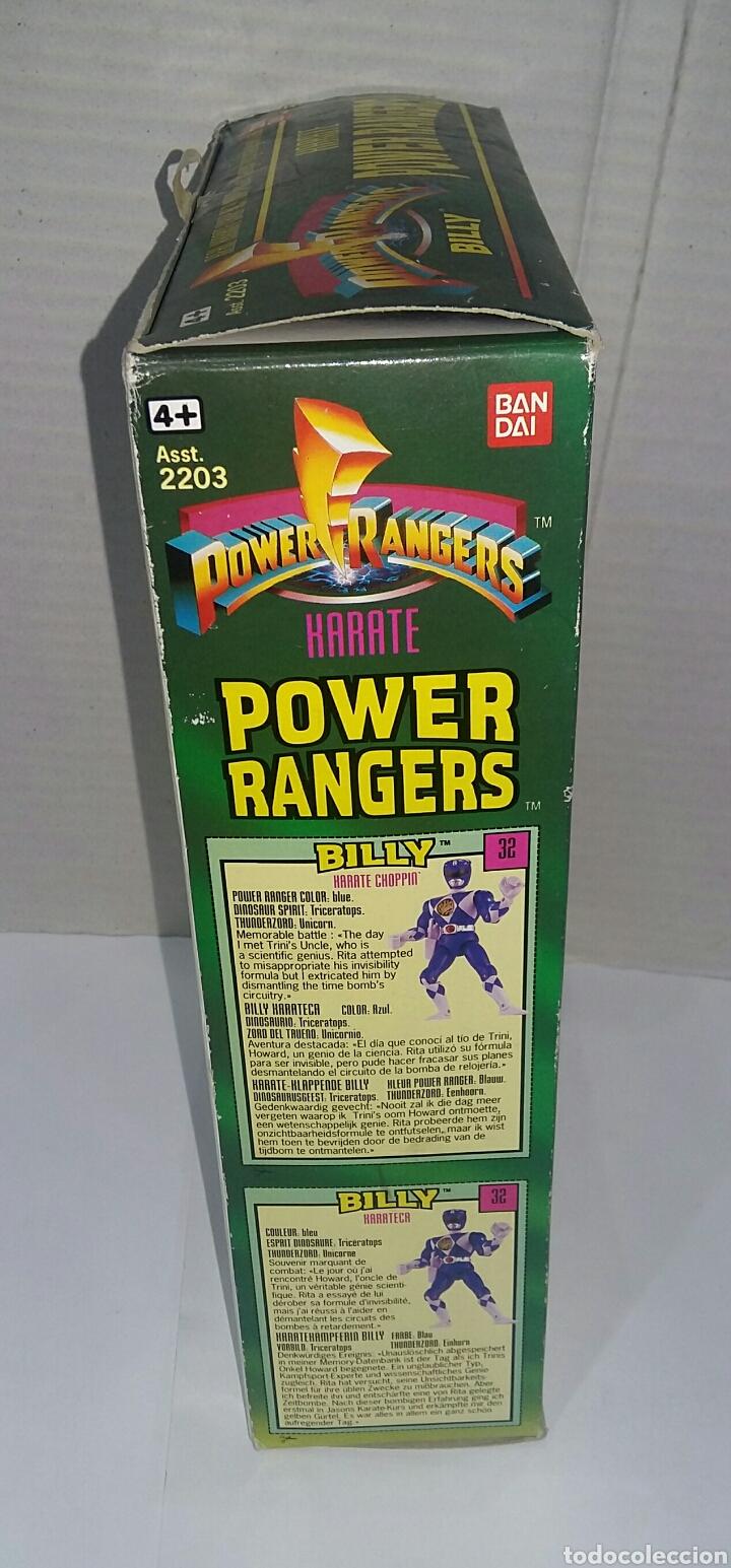 Figuras y Muñecos Power Rangers: POWER RANGERS KARATE BILLY. INCLUYE INSIGNIA Y PISTOLA. BANDAI. MIGHTY MORPHIN. SABAN.REF 2203.1993. - Foto 7 - 192059680