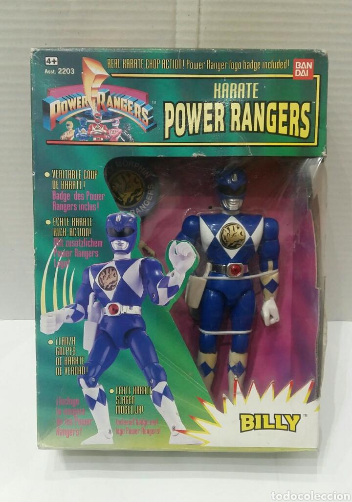 POWER RANGERS KARATE BILLY. INCLUYE INSIGNIA Y PISTOLA. BANDAI. MIGHTY MORPHIN. SABAN.REF 2203.1993. (Juguetes - Figuras de Acción - Power Rangers)