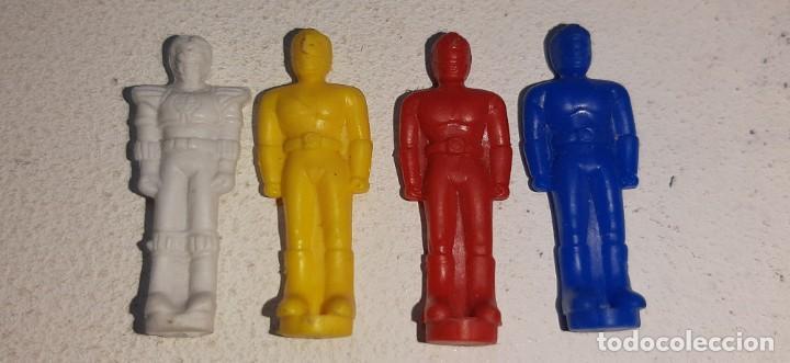 POWER RANGERS : LOTE DE 4 FIGURITAS THUNDER MEGAZORD DELUXE BANDAI AÑOS 90 MIGHTY MORPHIN 1993 (Juguetes - Figuras de Acción - Power Rangers)