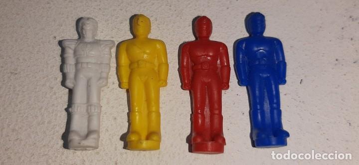 Figuras y Muñecos Power Rangers: POWER RANGERS : LOTE DE 4 FIGURITAS THUNDER MEGAZORD DELUXE BANDAI AÑOS 90 MIGHTY MORPHIN 1993 - Foto 2 - 193793761