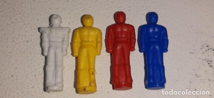 Figuras y Muñecos Power Rangers: POWER RANGERS : LOTE DE 4 FIGURITAS THUNDER MEGAZORD DELUXE BANDAI AÑOS 90 MIGHTY MORPHIN 1993 - Foto 3 - 193793761