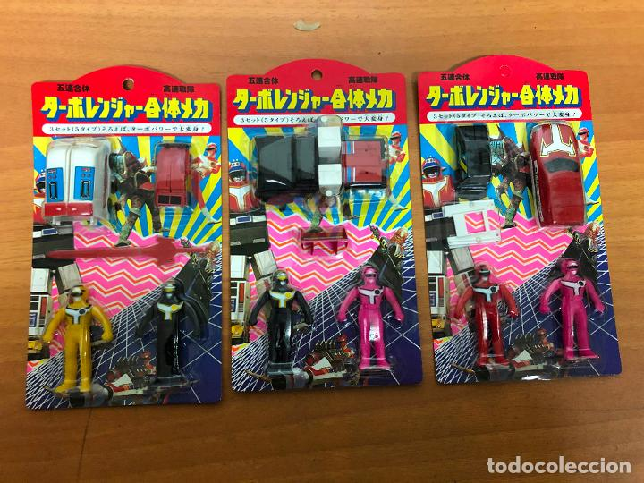 3 BLISTER POWER RANGERS , CON LOS 3 SE MONTA EL ROBOT GRANDE (Juguetes - Figuras de Acción - Power Rangers)