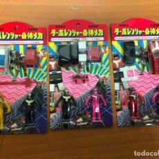 Figuras y Muñecos Power Rangers: 3 BLISTER POWER RANGERS , CON LOS 3 SE MONTA EL ROBOT GRANDE. Lote 193808667