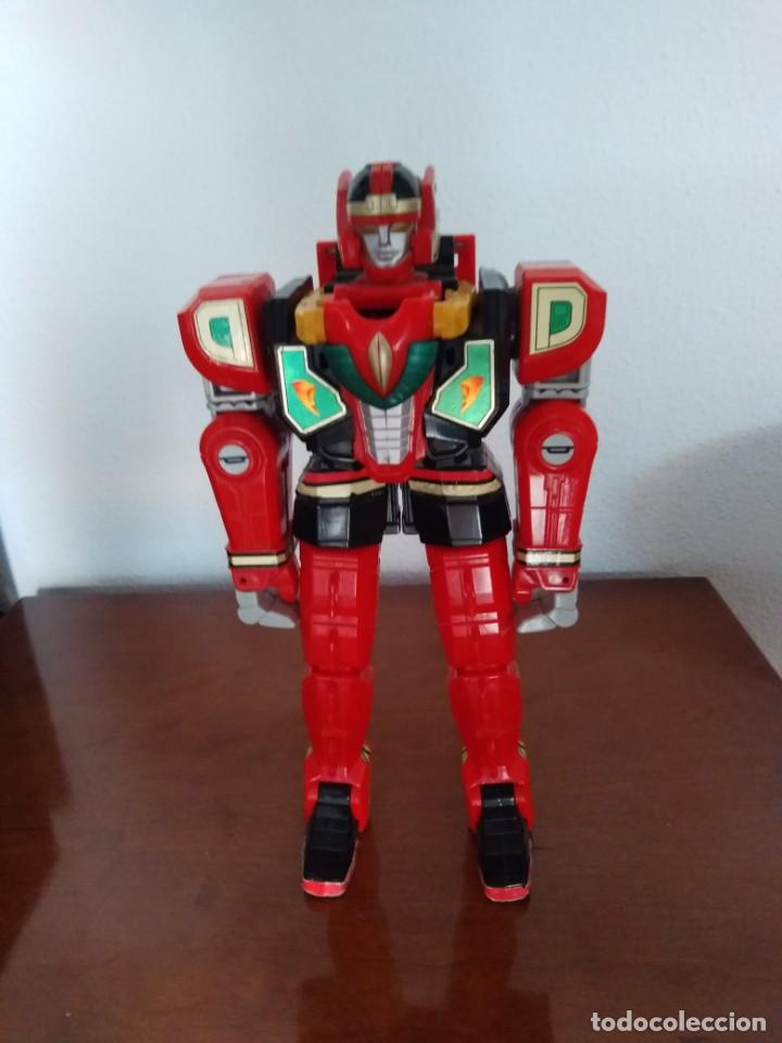 POWER RANGERS THUNDERZORD. FIGURA RED DRAGON. (Juguetes - Figuras de Acción - Power Rangers)