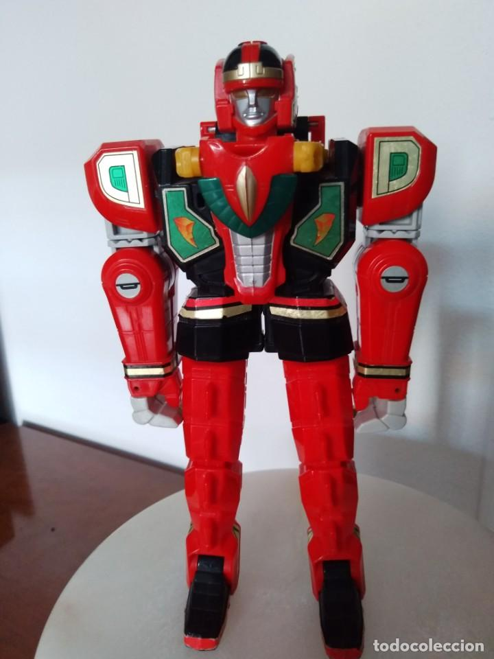 Figuras y Muñecos Power Rangers: Power Rangers Thunderzord. Figura Red Dragon. - Foto 3 - 195100172