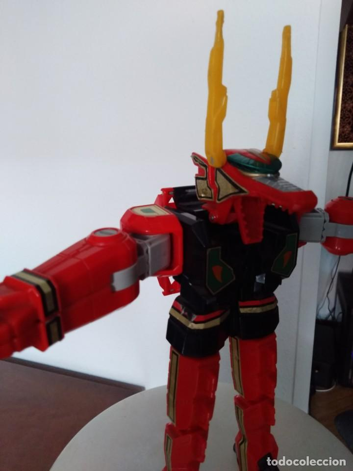 Figuras y Muñecos Power Rangers: Power Rangers Thunderzord. Figura Red Dragon. - Foto 6 - 195100172