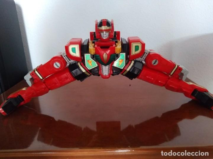 Figuras y Muñecos Power Rangers: Power Rangers Thunderzord. Figura Red Dragon. - Foto 8 - 195100172