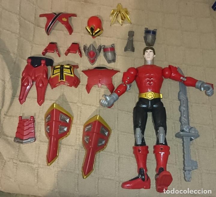 OCASION COLECCIONISTAS ANTIGUA FIGURA DE ACCION MUÑECO BANDAI 2011 POWER RANGERS CON MUCHAS PIEZAS (Juguetes - Figuras de Acción - Power Rangers)