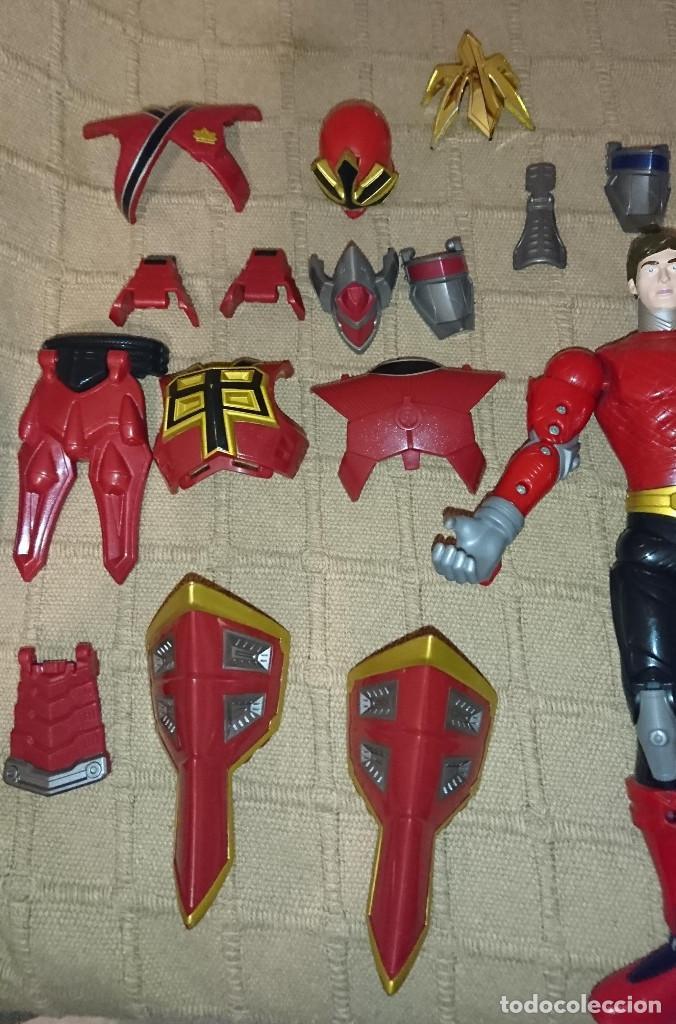 Figuras y Muñecos Power Rangers: ocasion coleccionistas antigua figura de accion muñeco Bandai 2011 Power Rangers con muchas piezas - Foto 3 - 195310928
