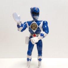 Figuras y Muñecos Power Rangers: POWER RANGERS AZUL 21 CM , BRAZO DERECHO ACCIONADO POR BOTON. Lote 196456325