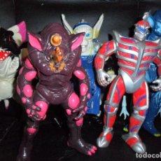 Figuras y Muñecos Power Rangers: EVIL SPACE ALIENS POWER RANGERS 1ª SERIE 1993 - 25CM DE ALTO- LOTE DE 5 FIGURAS: ZEDD, RHINO, PIRHAN. Lote 215016157
