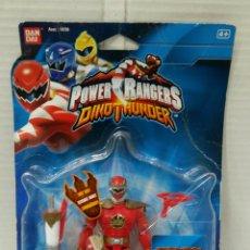 Figuras y Muñecos Power Rangers: POWER RANGERS DINOTHUNDER CON VOZ. NUEVO EN BLISTER. PARLANTE.TRIÁSICO.BANDAI.REF 10706.DINO THUNDER. Lote 197582770