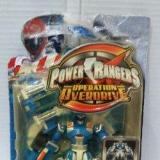 Figuras y Muñecos Power Rangers: POWER RANGERS OPERATION OVERDRIVE. AZUL. NUEVO EN BLISTER. MACH MORPH. TRANSFORMABLE. BANDAI. REF. Lote 197584107