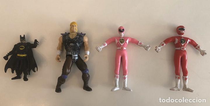 4 MUÑECOS ACCIÓN, HULK HOGAN, BATMAN, POWER RANGERS (Juguetes - Figuras de Acción - Power Rangers)