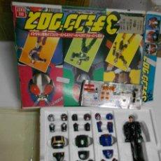 Figuras y Muñecos Power Rangers: ANTIGUA CAJA NUEVA CON FIGURA TIPO POWER RANGER NUEVO EN SU CAJA SIN USAR Y MUCHOS COMPLEMENTOS. Lote 202766388