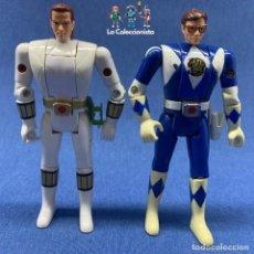 Figuras y Muñecos Power Rangers: LOTE 2 FIGURAS - POWER RANGER - BANDAI - AUTO MORPHIN - AÑO 1993 - BILLY & TOMMY. Lote 204758536