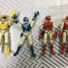 Figuras y Muñecos Power Rangers: 4 MUÑECOS POWER RANGERS BANDAI 1988. Lote 204815087