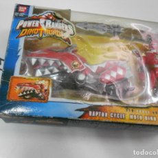 Figuras y Muñecos Power Rangers: MOTO RAPTOR DINO POWER RANGERS CON FIGURA NUEVO EN SU CAJA. Lote 205063080