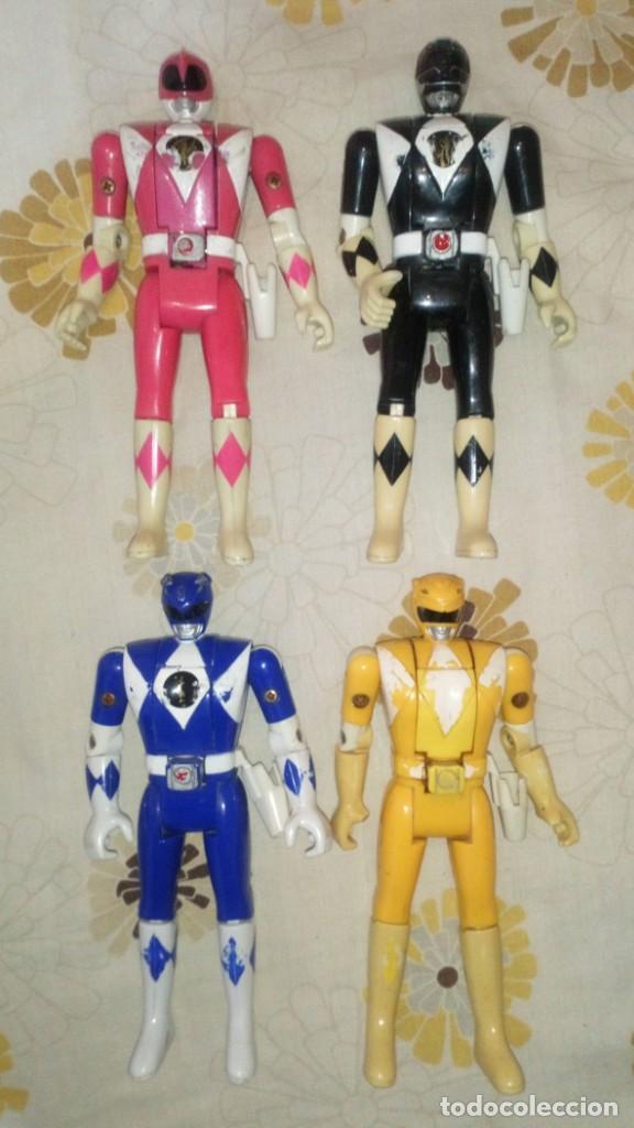 LOTE Nº2 DE 4 FIGURAS POWER RANGERS CON DEFECTOS, PARA PIEZAS O REPARAR (Juguetes - Figuras de Acción - Power Rangers)